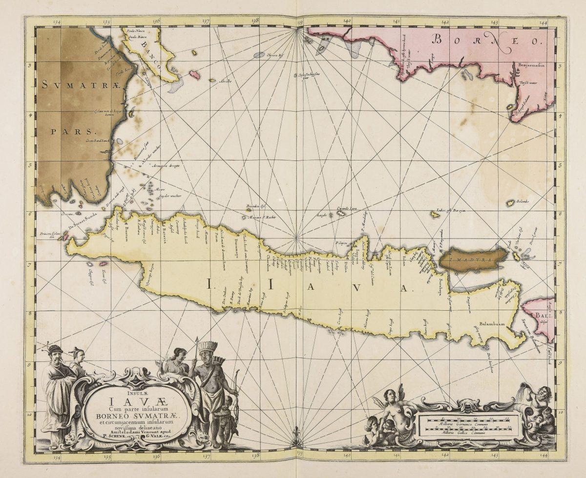 Map of Java island - Janssonius (1657)