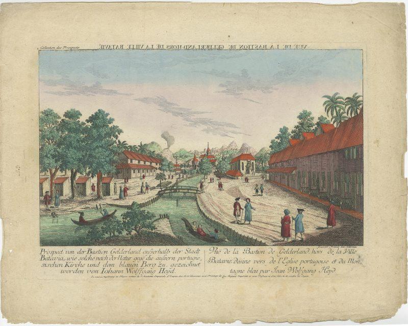 View of the Portuguese church area in Batavia - Habermann (c.1780)