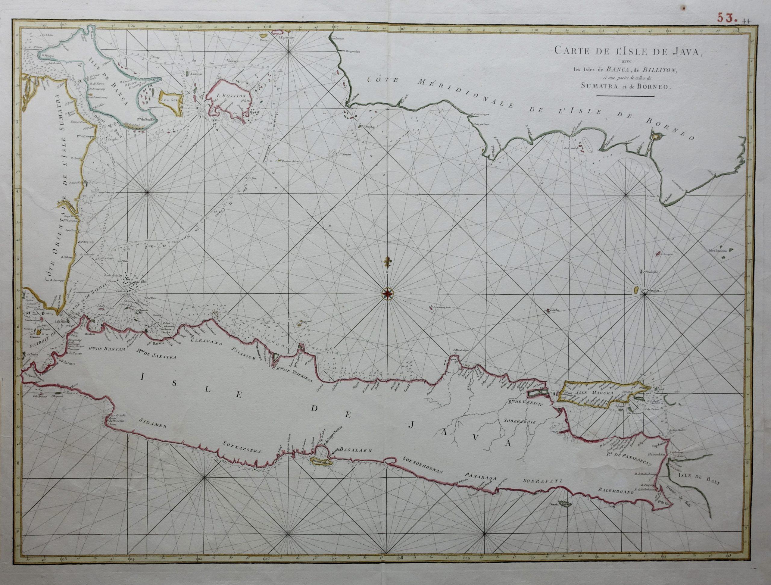 Sea Chart of Java - Mannevillette (1750)