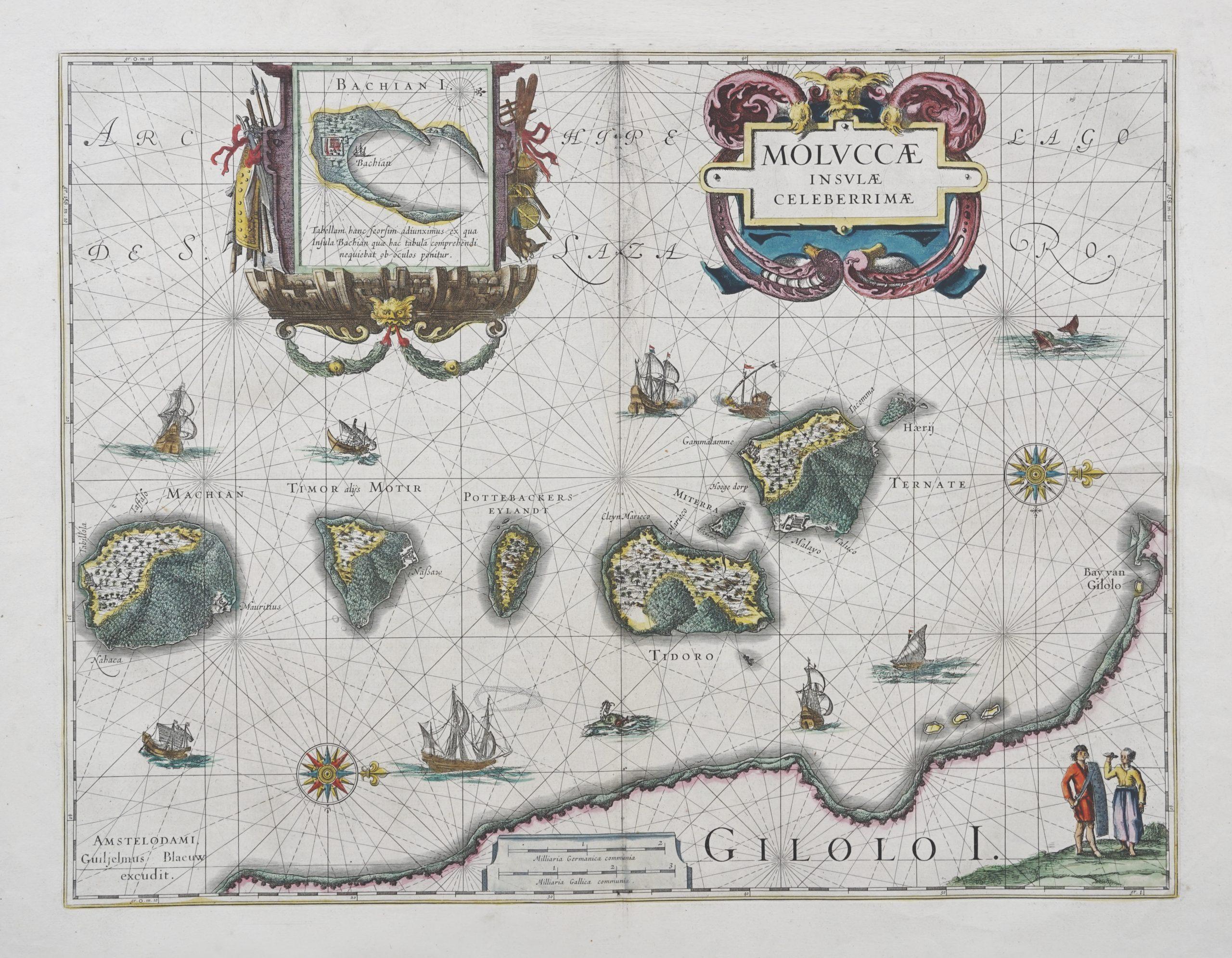 Antique Map of North Moluccas - Blaeu (c.1630)