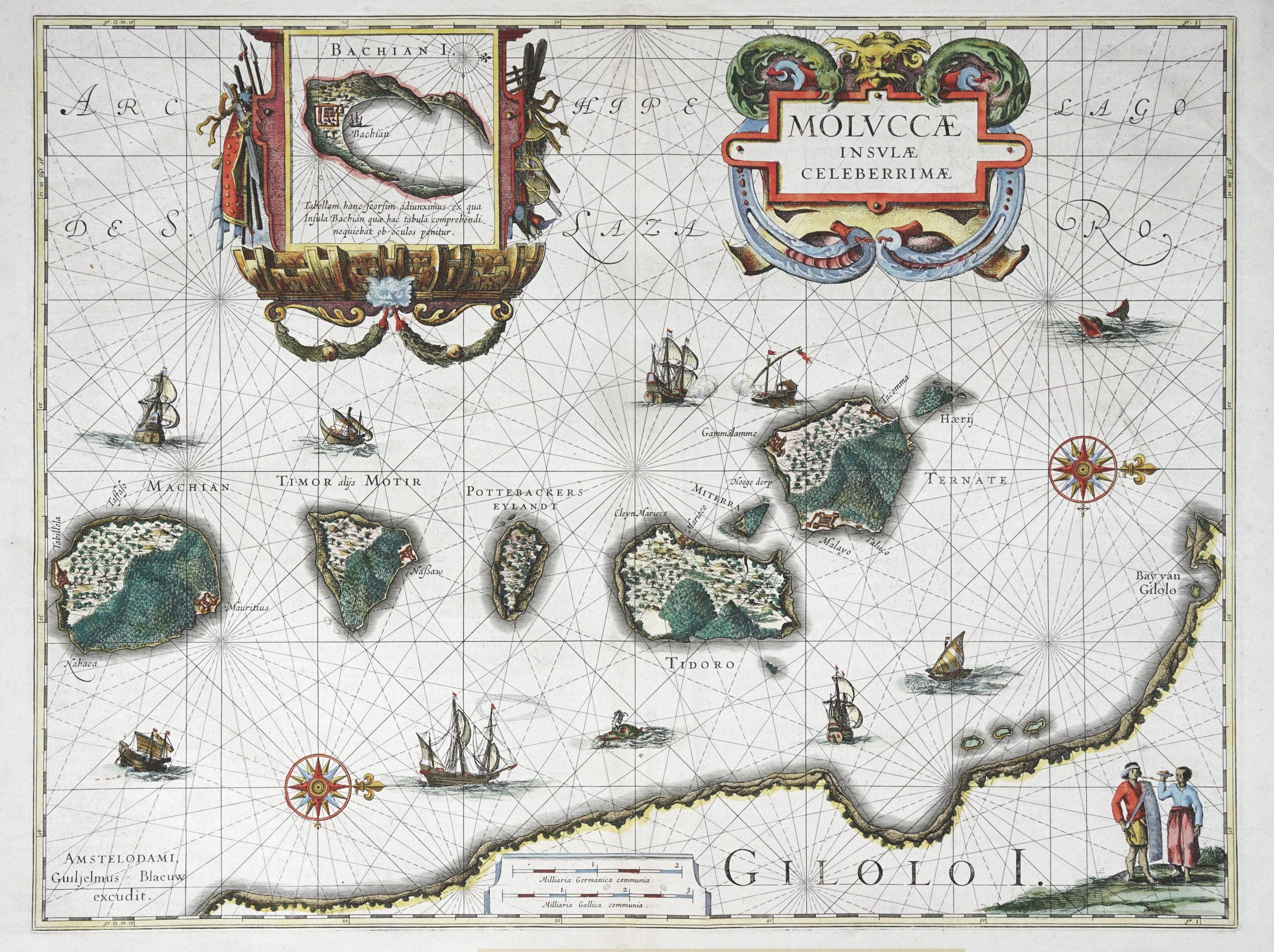 Antique Map of North Moluccas - Blaeu (c.1635)