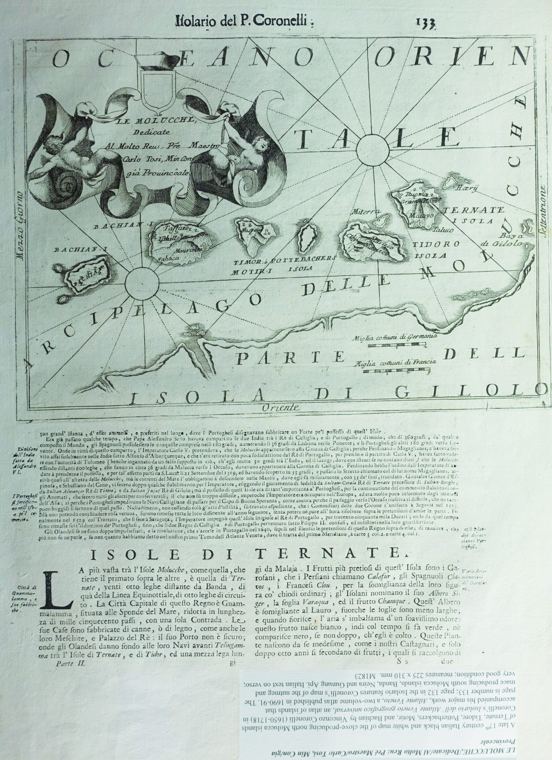 Map of the North Moluccas - Coronelli (1690-1691)